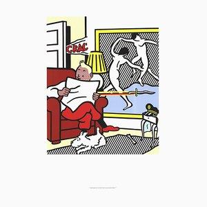 Litografía Tintin Reading Offset Roy Lichtenstein, 1995