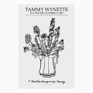 Bouquet country con serigrafia di Delphinium di Tom Wesselmann, 1989
