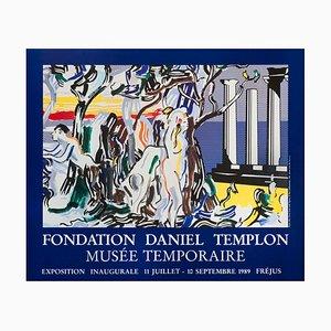Wald Szene mit Figur Offset Lithographie nach Roy Lichtenstein, 1989