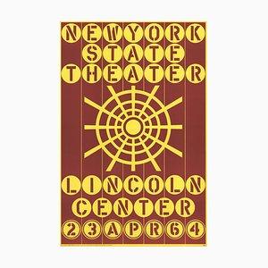 New York State Theater Lincoln Center Serigraphie von Robert Indiana, 1964