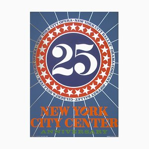Sérigraphie New York City Center par Robert Indiana, 1968