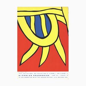 15ème Invitational Art Exhibition au Cinema I Silk Screen par Nicholas Krushenick