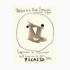 Poster litografico della mostra ceramica di Pablo Picasso, 1958
