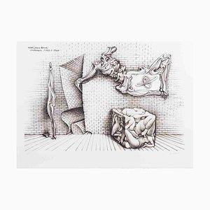 Vintage Forms & Förmige Radierung von Hans Bellmer