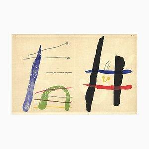 Gravure sur Bois Eventuelle par Joan Miró, 1958
