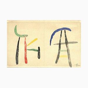 Woodcut 4 von Joan Miró, 1961