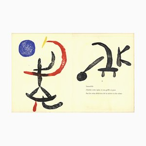 Grabado vintage de madera 6 de Joan Miró