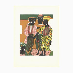 Conjunction Lithograph by Romare Bearden, 1983