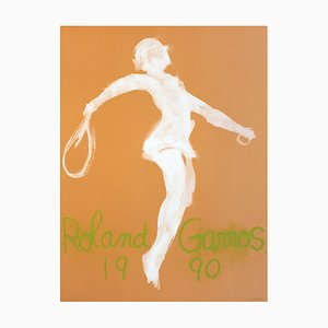 Roland Garros French Open Poster by Claude Garache, 1990s
