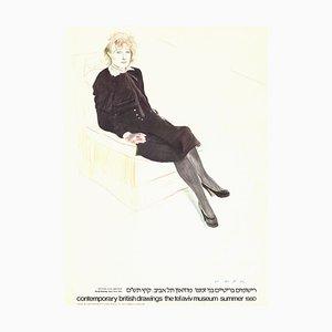 Celia Paris Offset Lithographie nach David Hockney, 1980