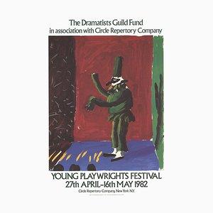 Detail von Pulcinella with Applause Lithographic Poster nach David Hockney, 1982
