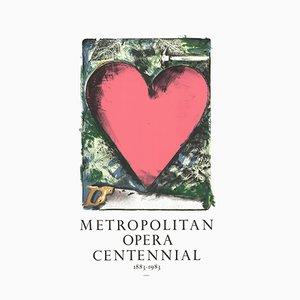 Litografia Pink Heart di Jim Dine, 1983