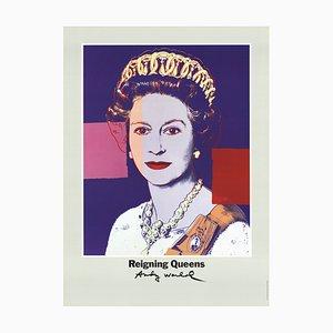 Litografia Regina Elisabetta II di Reigning Queen Offset di Andy Warhol, 1986