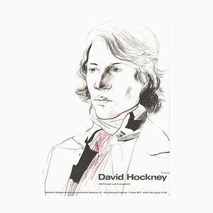 Lithographie Drawings and Prints Peter with Scarf Offset, d'après David Hockney, 1977