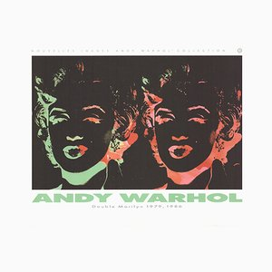 Double Marilyn Reversal Offset Lithographie nach Andy Warhol, 1989