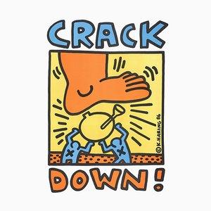 Affiche Lithographique Crack Down par Keith Haring, 1986
