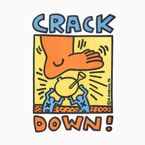 Crack Down Lithographic Poster by Keith Haring, 1986