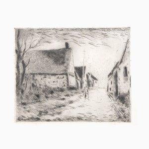 Gravure à l'Eau-Forte Boissy les Perches par Maurice De Vlaminck, 1951