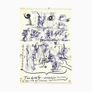 Lithographie Museum par Jean Tinguely, 1973