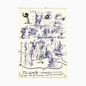 Museum Lithograph by Jean Tinguely, 1973