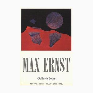 Vintage Galleria Iolas Poster Offset Lithographie von Max Ernst