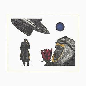 Twilight Dream Lithograph by Paul Van Hoeydonck, 1982