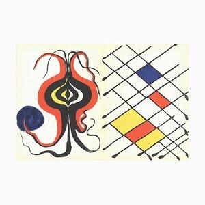 Litografía Behind the Mirror No. 156 de Alexander Calder, 1971