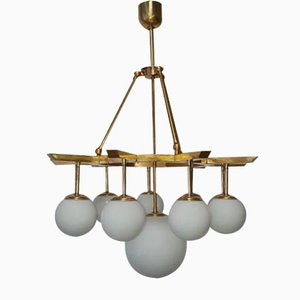 Vintage Brass 10-Light Sputnik Ceiling Lamp