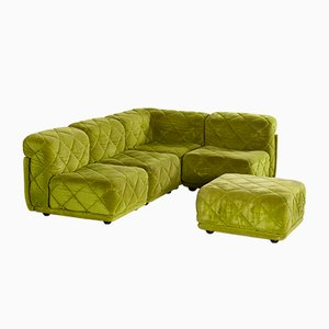 Rhombus Modular Sofa Set by Karl Wittmann for Wittmann Möbelwerkstätten, 1970s, Set of 5