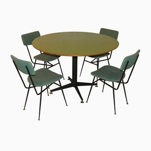 Danish Dining Table & Chairs Set from Officina di Ricerca, 1960s, Set of 5