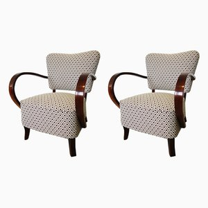 H-237 Armchairs by Jindřich Halabala for UP Závody, 1930s, Set of 2