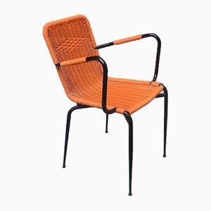 Italian Orange Steel Outdoor Scooby Chair, 1960s