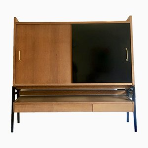French Oak Sideboard by Gerard Guermonprez for Magnani, 1950s