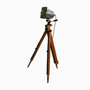 Italian Tripod Cinema Ground Light from Officina di Ricerca, 1970s