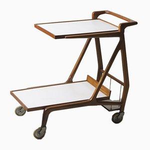 Mid-Century Modern Caviúna Wood Tea-Cart by Giuseppe Scapinelli, Italy, 1950s