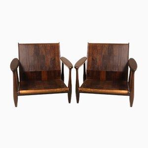 Mid-Century Modern Armchairs from Liceu de Artes e Ofícios, Brazil, 1960s, Set of 2
