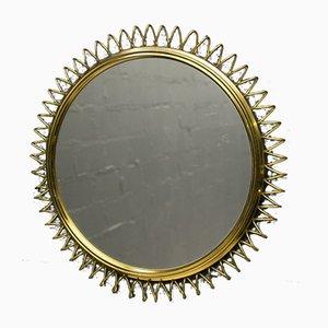 Brass Spiral Mirror, 1950s