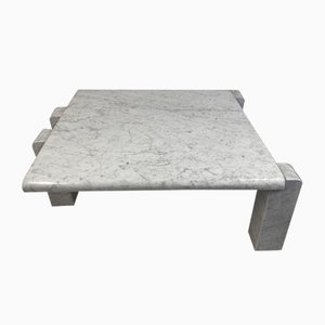 Italian Coffee Table in Carrara Marble from Skipper, 1970s