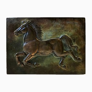 Art Deco Bronze Cigar Box with Stallion, Denmark, 1930s