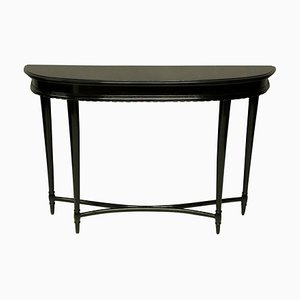 French Ebonized Console Table, 1930s