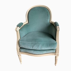 Antique Bergere Armchairs, Set of 2
