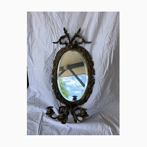 Antique Bronze Wall Light with Mirror