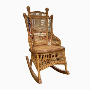 Vintage Rocking Chair in Wicker