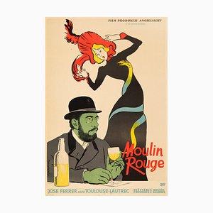 Moulin Rouge Poster by Lucjan Jagodzinski, 1957