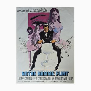 Film Poster for Notre Man Flint with James Coburn, 1965
