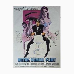 Filmplakat für Notre Man Flint mit James Coburn, 1965