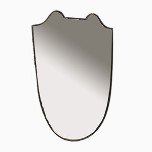 Mid-Century Italian Crest-Shaped Wall Mirror with Distinctive Beading, 1950s