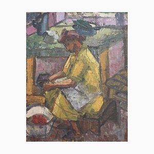 Toiling de mujer en la cocina de Alexandre Istrati, años 40