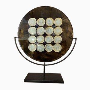 Moderne Murano Glasplatte mit 12 Kreisen
