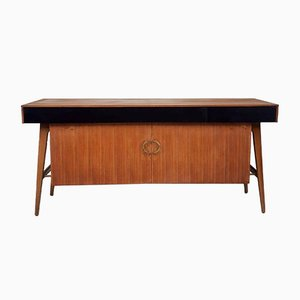 Mid-Century Danish Walnut Sideboard from Lebus